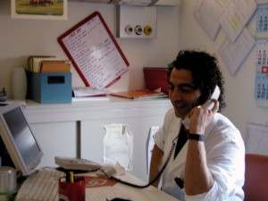 talking with doctor on phone